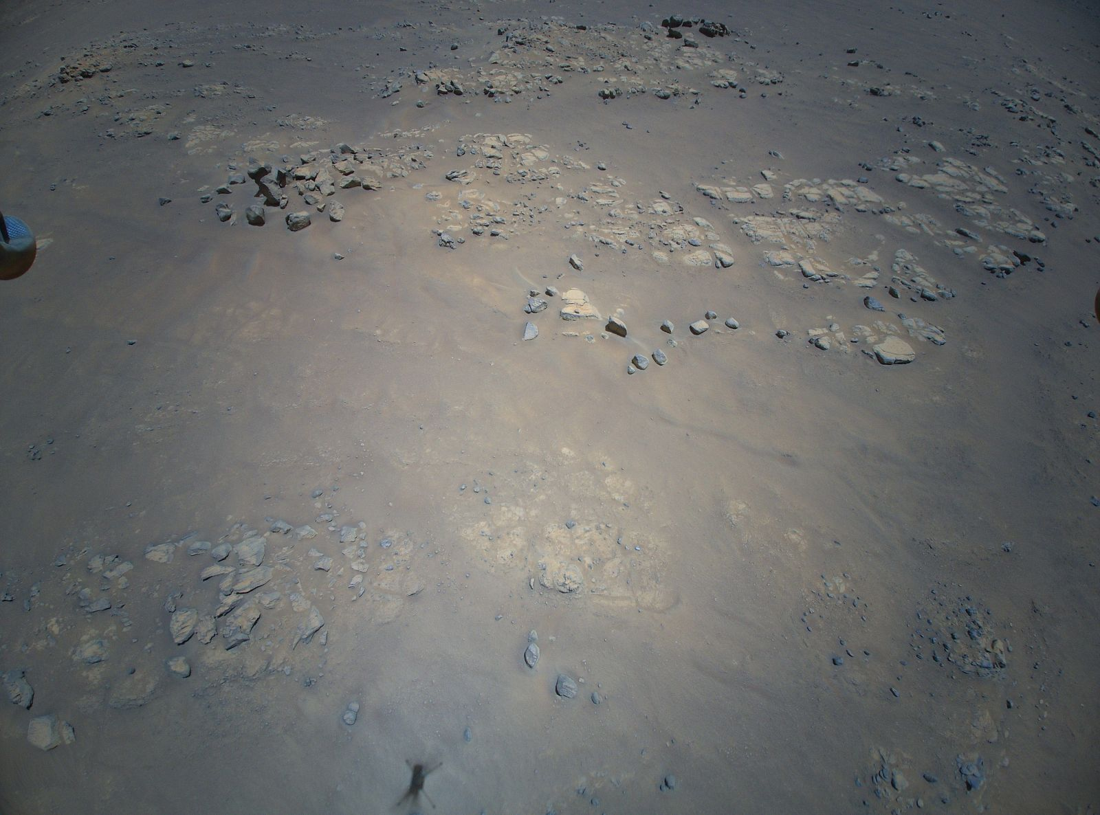 Some of the rough terrain imaged by Ingenuity during its ninth flight. Credit: NASA / JPL-Caltech