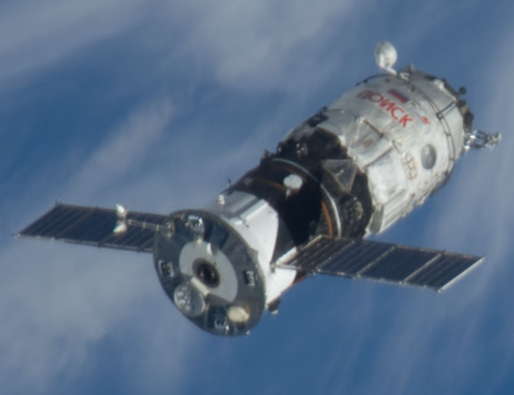 The Poisk module rendezvous with the ISS in 2009. It's nearly identical to Pirs and uses a similar service module design that brought both elements to the outpost. Credit: NASA