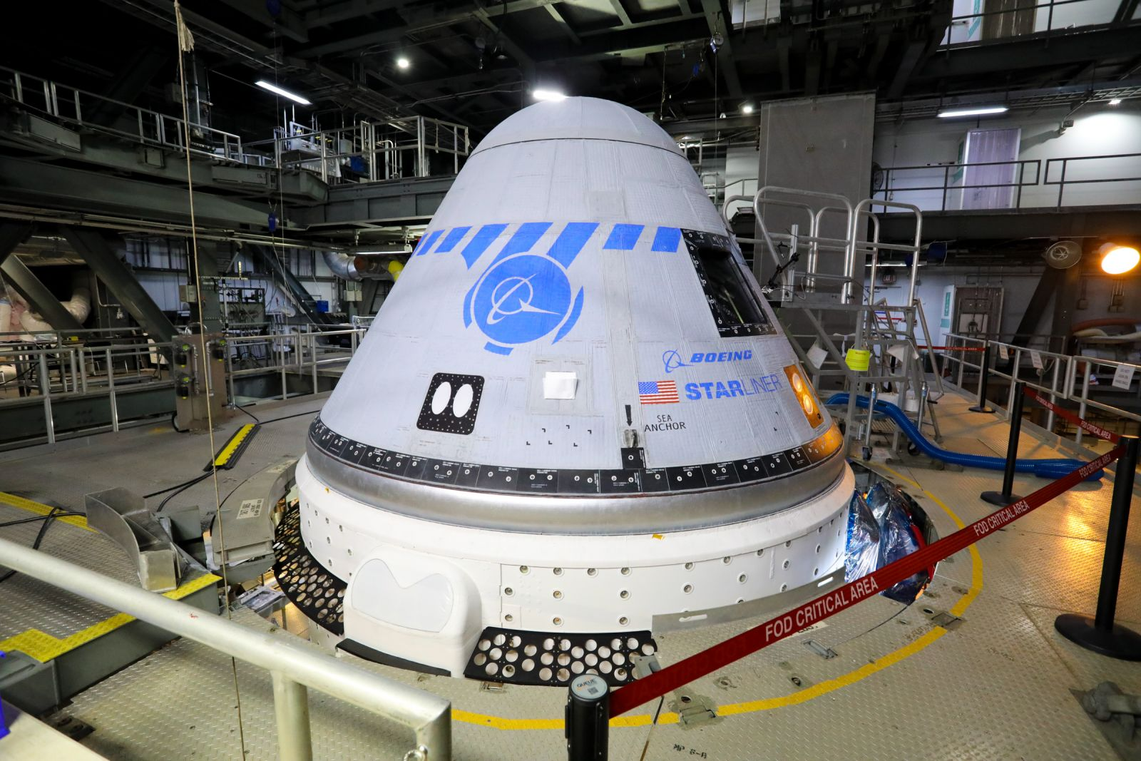 Starliner while at United Launch Alliance's Vertical Integration Facility. Credit: Boeing