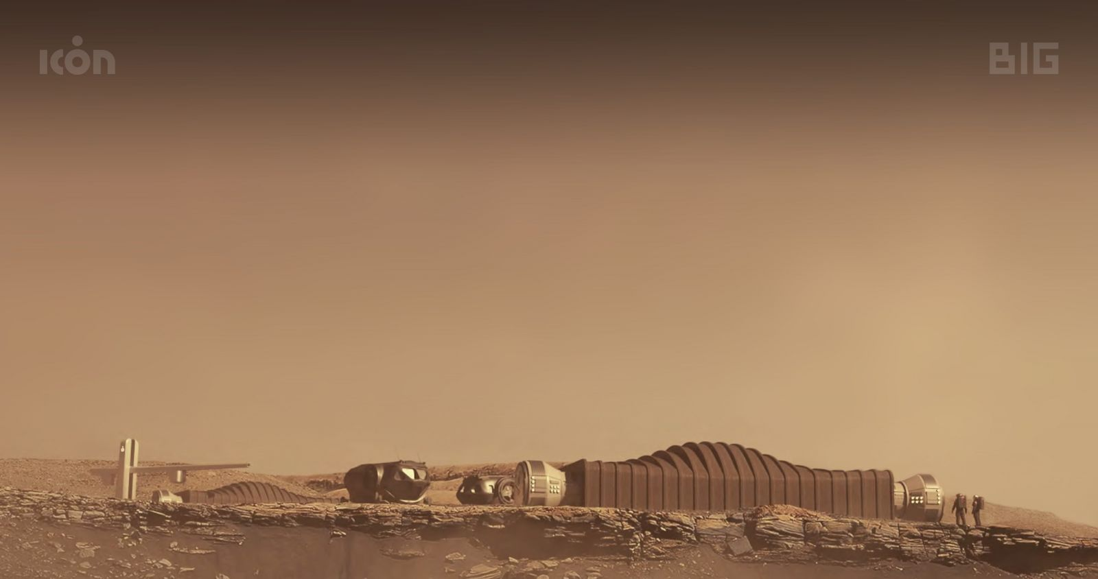 Computer-generated image of Mars Dune Alpha. NASA hopes to start a year-long Mars simulation at Johnson Space Center late next year. Credit: ICON