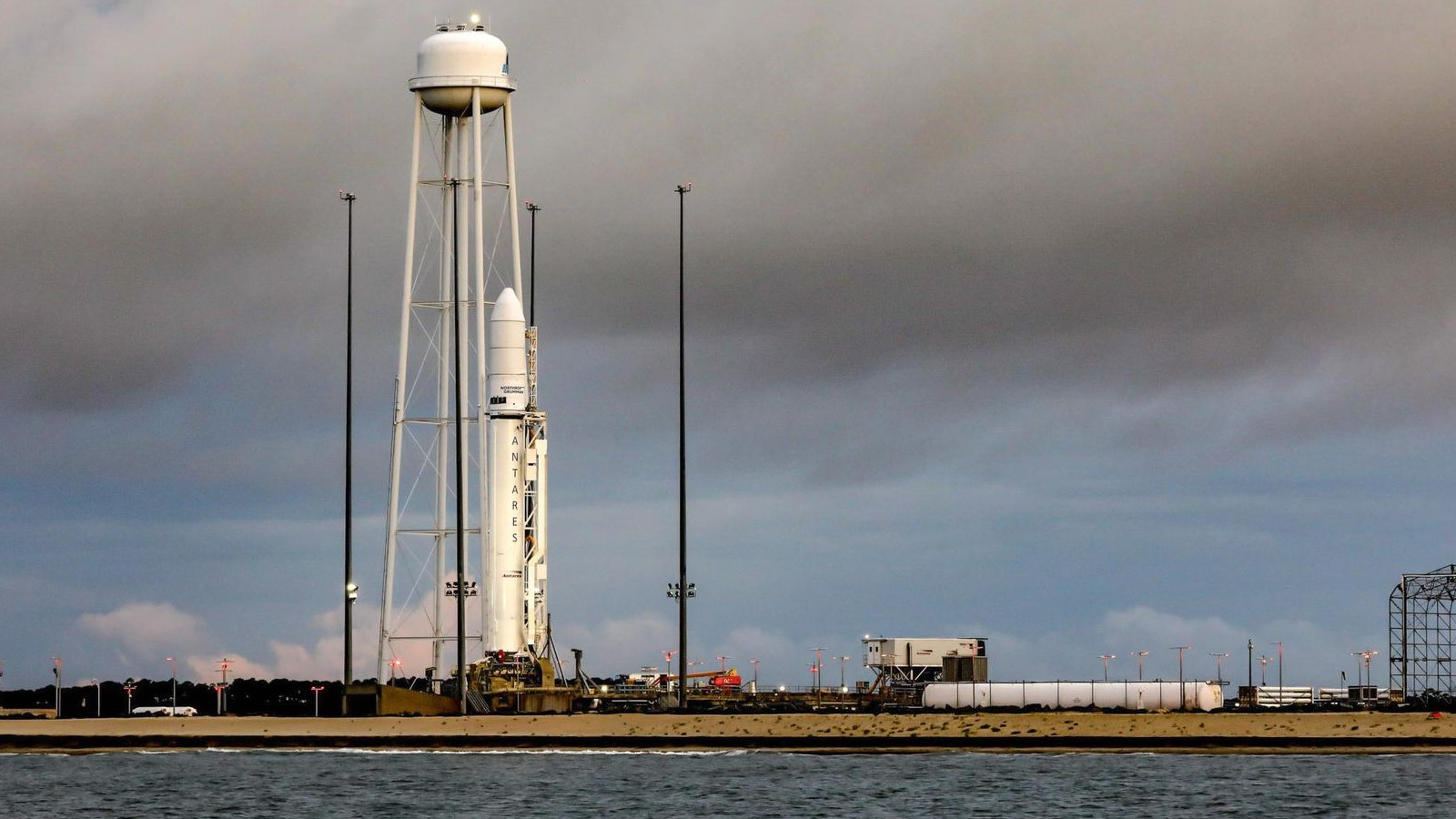 The Antares rocket with the NG-16 Cygnus spacecraft encapsulated on top. Credit: NASA