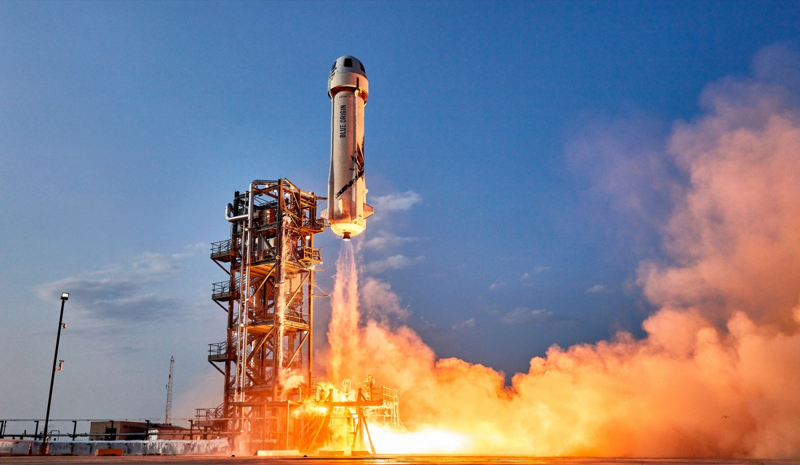 A file photo of the previous New Shepard flight in July. Credit: Blue Origin