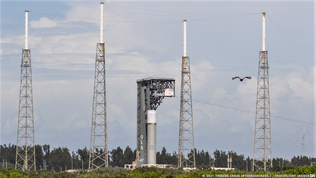 A test article for United Launch Alliance's Vulcan rocket stands at Space Launch Complex 41 in Florida. Credit: Theresa Cross / Spaceflight Insider