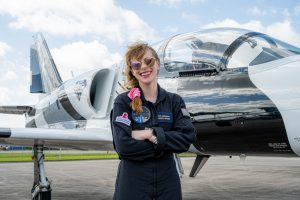 Arceneaux following her jet arrival in Florida less than a week before the Inspiration4 launch. Credit: Inspiration4 / John Kraus