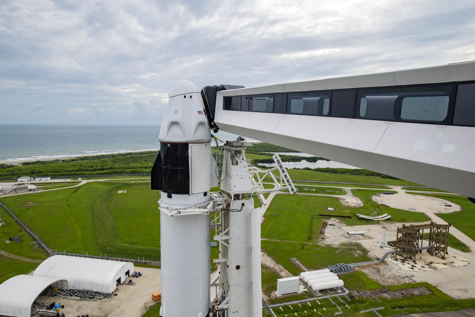 SpaceX Crew Dragon Resilience on the launch pad. Credit: SpaceX