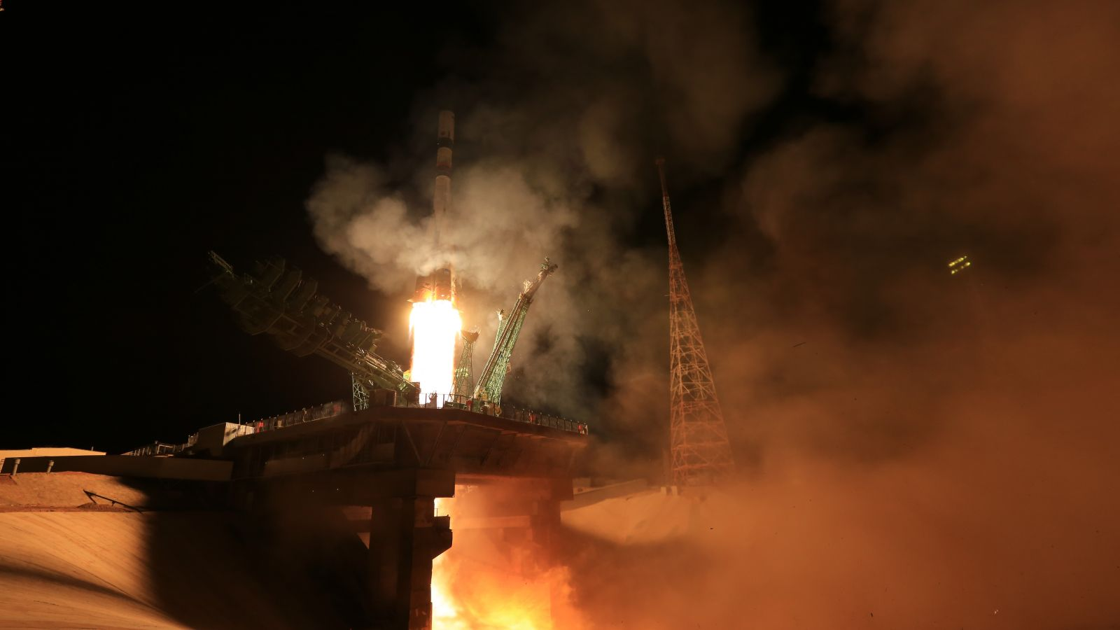 Progress MS-18 is launched atop a Soyuz 2.1a rocket from Baikonur Cosmodrome in Kazakhstan. Credit: Roscosmos