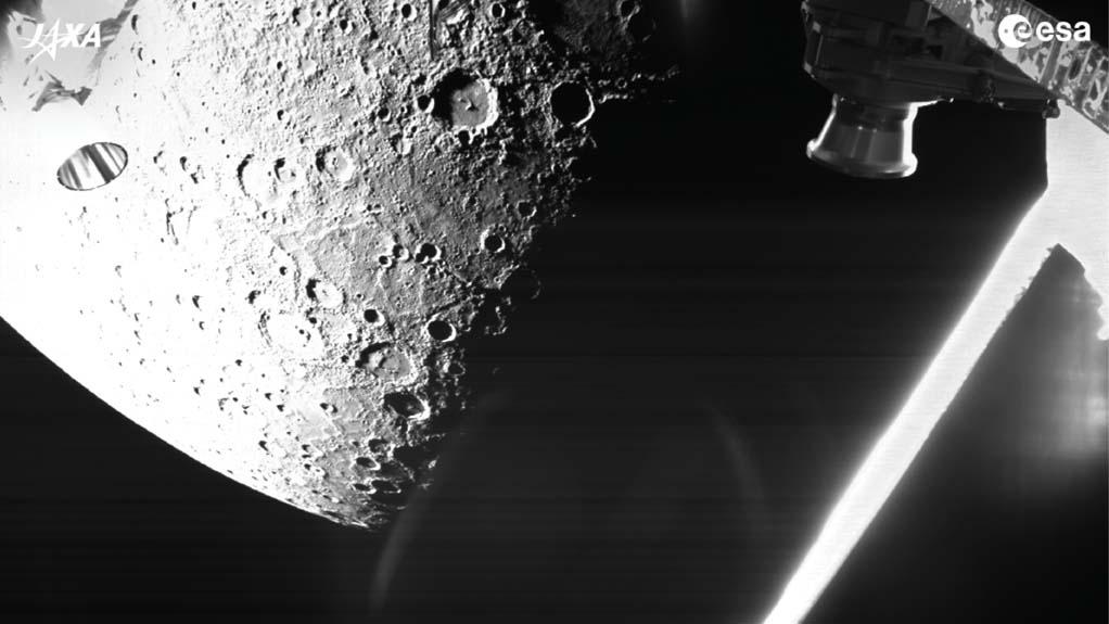 BepiColombo captures its first views of Mercury on Oct. 1, 2021. Credit: ESA / JAXA