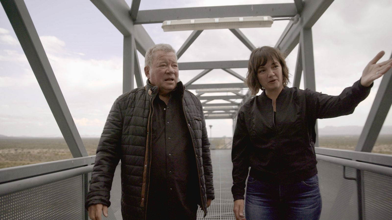 William Shatner is given a tour of Blue Origin's launch facility in West Texas. Credit: Blue Origin