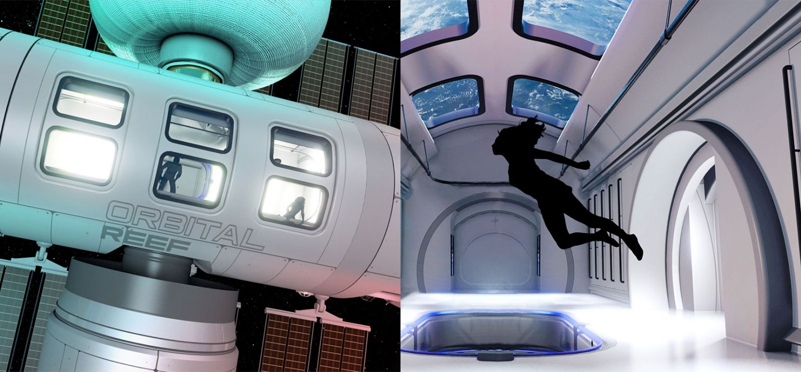 A rendering of the core module for the Orbital Reef space station. Credit: Blue Origin